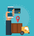 online mobile payment vector image vector image