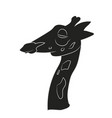 portrait of a giraffe silhouette vector image