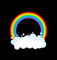 rainbow and cloud isolated rainbows circle vector image
