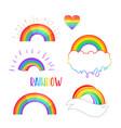 rainbow colored icon gay pride lgbt concept vector image vector image