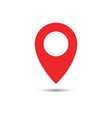 red maps pin location map icon location pin pin vector image vector image