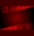 Red tech motion background with arrows vector image vector image