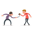 robber burglar thief robbery steal purse from vector image vector image
