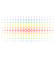 ruby ring spectrum halftone array vector image vector image
