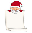 santa claus with blank sheet for text vector image vector image