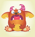 scared cartoon monster vector image vector image