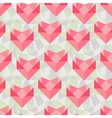 Seamless geometric pattern with origami hearts vector image