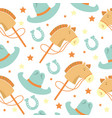 seamless pattern baby cowboy with western vector image