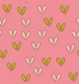 seamless pattern with kawaii hearts vector image vector image