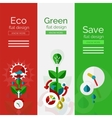 Set of flat design eco concepts vector image vector image
