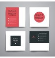 Set of modern design banner template in sale style vector image vector image