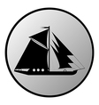 Ship button vector image vector image