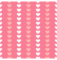 simple seamless geometric pattern with hearts in vector image vector image
