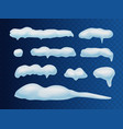 snow caps snowballs and snowdrifts realistic set vector image vector image