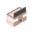 store bilboard commercial building isometric style vector image