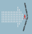 teamwork concept the crowd of workers follows the vector image vector image