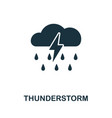 thunderstorm icon symbol creative sign from vector image vector image