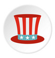 uncle sam hat icon circle vector image vector image