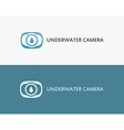 Underwater camera vector image
