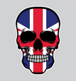 united kingdom flag head skull vector image vector image