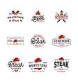 vintage retro steak house meat store logo design vector image vector image