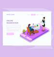 waiter isometric web page vector image