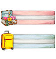 watercolor suitcase banners vector image vector image