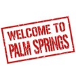 welcome to palm springs stamp vector image vector image