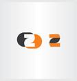 z logotype black orange icon symbol vector image vector image