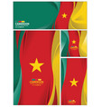 abstract cameroon flag background vector image