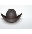 Light Background Black cowboy hat vector image