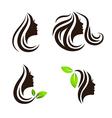Woman Beauty and Spa Salon Logo Design Set vector image