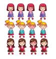 Girls emotions set vector image