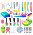 manicure and pedicure foot hand health beauty vector image