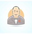 Italian mafiosi crime leader Don Corleone icon vector image