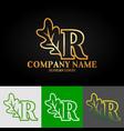 01 oak letter r vector image vector image