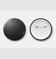 3d realistic metal or plastic black blank vector image vector image
