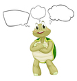 A thinking turtle vector image