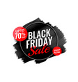 abstract black friday watercolor banner design vector image