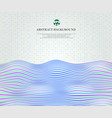 abstract of soft harmony gradient blue wave lines vector image vector image