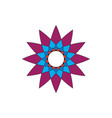 abstract star shape flower image vector image vector image