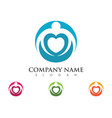 adoption and community care logo template icon vector image vector image