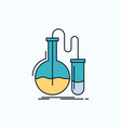 Analysis chemistry flask research test flat icon