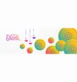 artistic diwali festival background with mandala vector image vector image