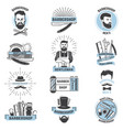 barbershop logo barber cuts male haircut vector image