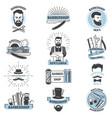 barbershop logo barber cuts male haircut vector image vector image