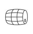 barrel of beer icon vector image vector image