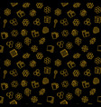 beekeeping dark seamless pattern or vector image