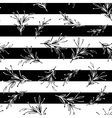 Black and white striped floral minimal simple vector image vector image