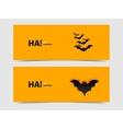Black bats paper cut out from the background vector image vector image